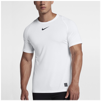 Nike Pro Fitted Short Sleeve Top - Men's - White / Black