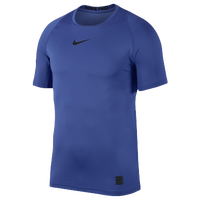 Nike Pro Fitted Short Sleeve Top - Men's - Blue / Blue