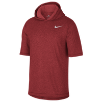 Nike Dri-FIT Cotton Tee Hoodie - Men's - Red