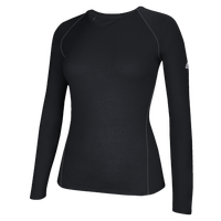 adidas Team Climalite Long Sleeve T-Shirt - Women's - All Black / Black