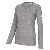 adidas Team Climalite Long Sleeve T-Shirt - Women's - Grey / Grey