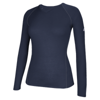 adidas Team Climalite Long Sleeve T-Shirt - Women's - Navy / Navy