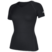 adidas Team Climalite T-Shirt - Women's - All Black / Black