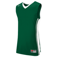 Nike Team National Varsity Jersey - Men's - Dark Green / White