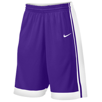 Nike Team National Varsity Shorts - Men's - Purple / White
