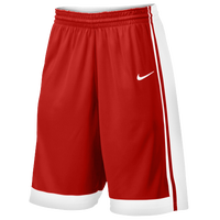 Nike Team National Varsity Shorts - Men's - Red / White