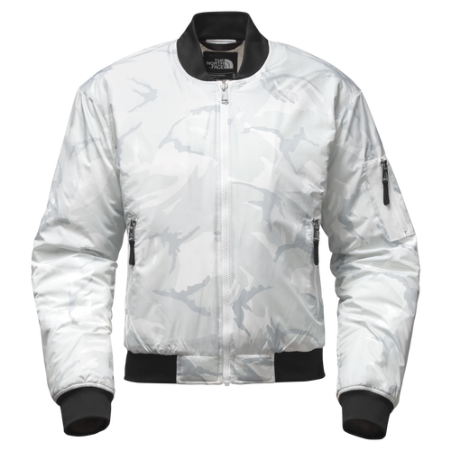 The North Face Barstol Bomber - Women's Casual - Tnf White Disrupt 39ME-YBJ