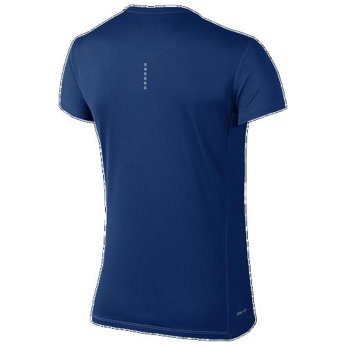 Nike Dri-FIT Breathe Challenger T-Shirt - Women's Running - Blue Jay/Blue Jay 40173433