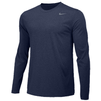 Nike Team Legend Long Sleeve Poly Top - Boys' Grade School - Navy / Navy
