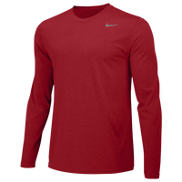 Nike Team Legend Long Sleeve Poly Top - Boys' Grade School - Red / Red