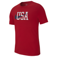 Nike USA Short Sleeve T-Shirt - Men's - Red
