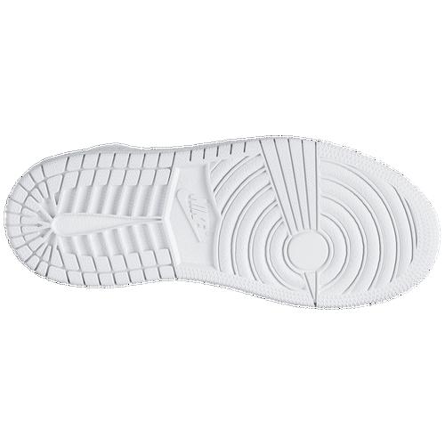 0fc30e94084 Jordan AJ1 Mid Boys Preschool Basketball Shoes White Black White low-cost