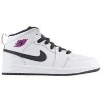 Jordan AJ 1 Mid - Girls' Preschool - White