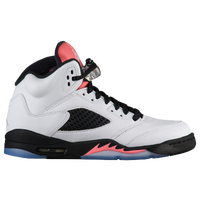 jordan shoes for girls white. jordan retro 5 - girls\u0027 grade school white / red shoes for girls