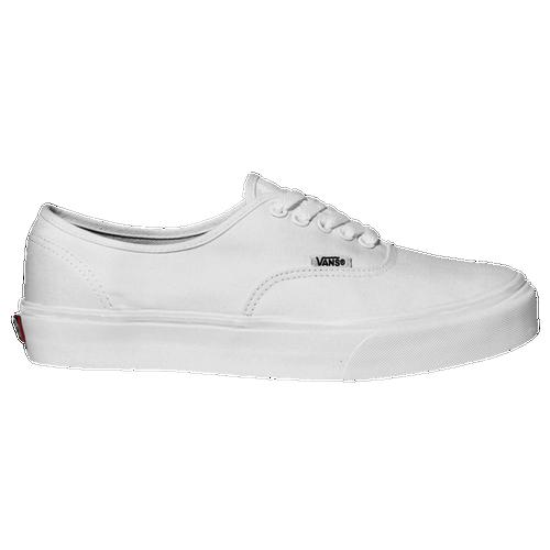 775939e591 Vans Authentic Boys Preschool Skate Shoes True White on PopScreen