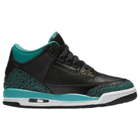 jordans shoes for girls high tops. jordan retro 3 - girls\u0027 grade school black / gold jordans shoes for girls high tops g