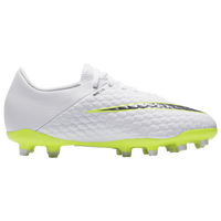Nike Hypervenom Phantom 3 Academy FG - Boys' Grade School - White / Light Green