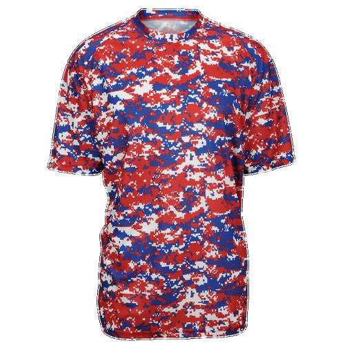 Badger Sportswear Digital Camo T-Shirt - Men's Baseball - Red/Royal 4180138