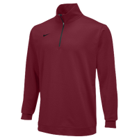 Nike Team Dri-FIT 1/2 Zip - Men's - Maroon / Maroon
