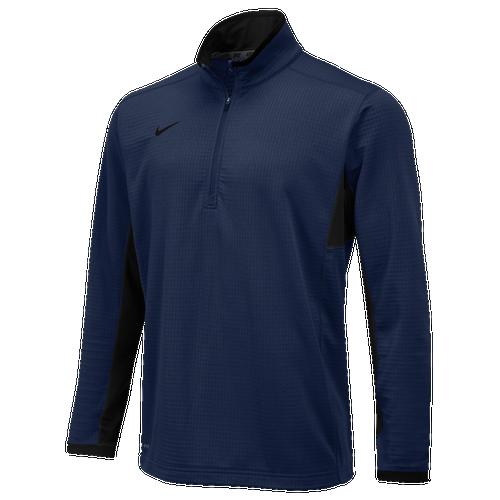 Nike Team Textured Dri-FIT 1/2 Zip - Men's For All Sports - Navy/Black 42042419
