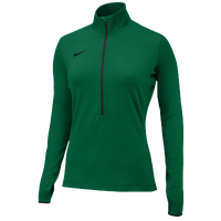 Nike Team Pro Hyperwarm 1/2 Zip 3.0 - Women's - Dark Green / Dark Green