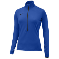 Nike Team Pro Hyperwarm 1/2 Zip 3.0 - Women's - Blue / Blue