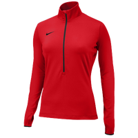 Nike Team Pro Hyperwarm 1/2 Zip 3.0 - Women's - Red / Red