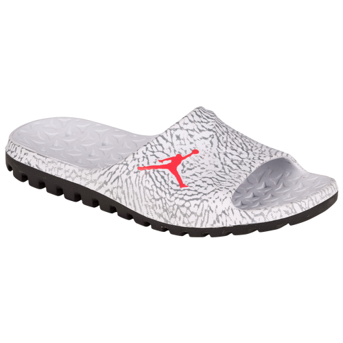 Jordan Super.Fly Slide - Men's - Casual - Shoes - Pure Platinum/Infrared 23/ Black/Cool Grey