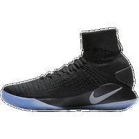 Nike Hyperdunk 2016 Flyknit - Men's Basketball - Black/Metallic Platinum 43390003
