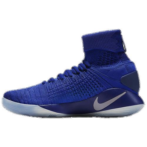 Nike Hyperdunk 2016 Flyknit - Men's - Basketball - Shoes - Game Royal/Metallic  Platinum/Cool Grey
