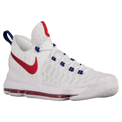 super popular 59477 067ea ... czech nike kd 9 mens basketball shoes kevin durant white university red  9f7dd 30b19