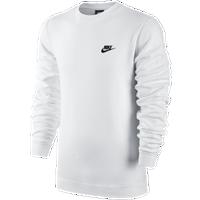 4b9081f39b00 Nike Club Fleece Crew - Men s - All White   White