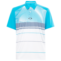 Oakley Aero Motion Block Golf Polo - Men's - White / Light Blue