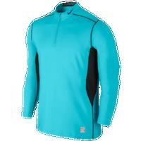Nike Pro Combat Hyperwarm Max Fttd 1/4 Zip Top - Men's - Light Blue