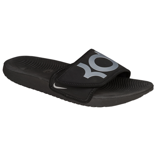 bdccf8698853 Nike Kawa Adjust Signature Slide - Boys  Preschool - Casual - Shoes - Kevin  Durant - Black Metallic Silver delicate