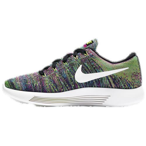 100% Real Cheap Women's Nike LunarEpic Low Flyknit Running Shoes womens Black/Fire Pink/Blue Glow/White NIKE Womens Running