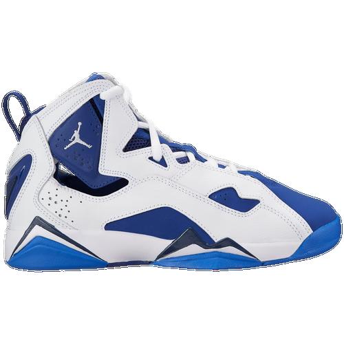 ec16c114ef74 ... where to buy jordan true flight boys grade school basketball shoes  white white deep royal blue