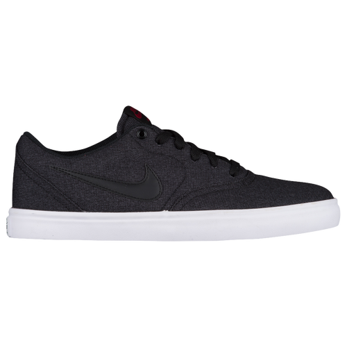 Nike SB Check Solar - Men's Casual - Black/Black/Team Red 43896007