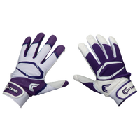 Cutters Power Control 2.0 Yin Yang Batting Glove - Men's - Purple / White
