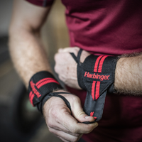 Harbinger Red Line Thumb Loop Wrist Wraps - Men's - Black / Red