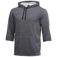 Nike Team 3/4 Flux Hoodie - Men's - Grey / Grey