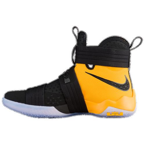Nike LeBron Soldier 10 - Men\u0027s - Basketball - Shoes - LeBron James -  Black/University Gold