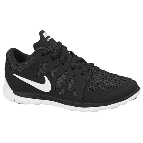 32ec1ab52a88 Nike Free 5.0 Boys Preschool Running Shoes Black Anthracite White on ...