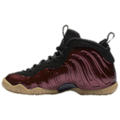 Nike Little Posite One - Boys' Grade School - Basketball - Shoes - Night  Maroon/Night Maroon/Black/Gum Light Brown