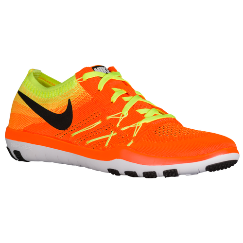 Nike Free TR Focus Flyknit - Women's - Training - Shoes - Total Orange /Black/Volt