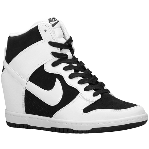 nike e sky hi le scarpe casual nero / bianco / bianco
