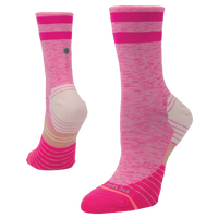 Stance Distance Run Crew - Women's - Pink / White