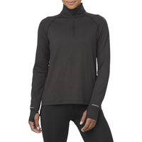 ASICS® Thermopolis 1/2 Zip - Women's - All Black / Black