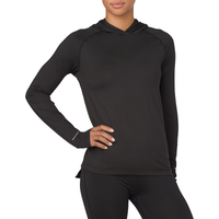 ASICS® Thermopolis Long Sleeve Hoodie - Women's - All Black / Black