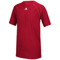 adidas Team Climalite S/S T-Shirt - Boys' Grade School - Red / Red